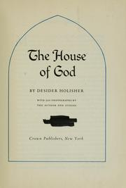 Cover of: The house of God | Holisher, Desider