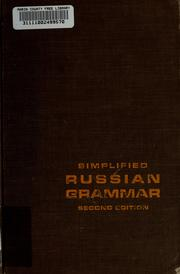 Cover of: Simplified Russian grammar | Mischa H. Fayer