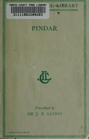 Cover of: The odes of Pindar | Pindar