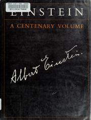 Cover of: Einstein | edited by A. P. French.