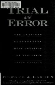 Cover of: Trial and error | Edward J. Larson