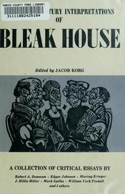 Cover of: Twentieth century interpretations of Bleak House: a collection of critical essays