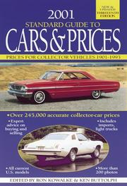 Cover of: 2001 Standard Guide to Cars & Prices (Collector Car Price Guide)