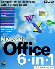 Cover of: Microsoft Office 6 in 1