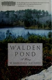 Walden Pond by W. Barksdale Maynard