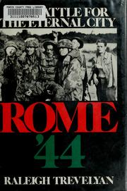 Cover of: Rome '44, the battle for the Eternal City