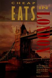 Cover of: Cheap eats in London | Sandra Gustafson