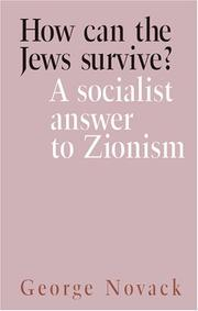 Cover of: How Can the Jews Survive?
