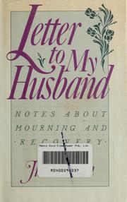 Cover of: Letter to my husband | Jill Truman