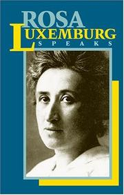 Cover of: Rosa Luxemburg speaks