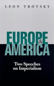 Cover of: Europe & America: two speeches on imperialism