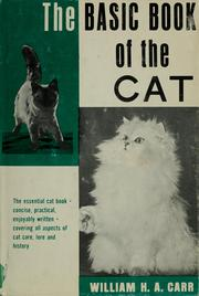 Cover of: The basic book of the cat | William H. A. Carr