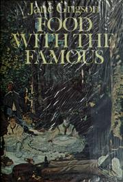 Cover of: Food with the famous | Jane Grigson