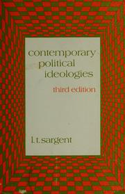 Contemporary political ideologies by Lyman Tower Sargent