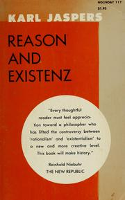 Cover of: Reason and existenz | Karl Jaspers