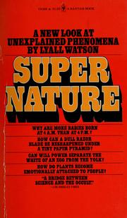 Cover of: Supernature | Lyall Watson