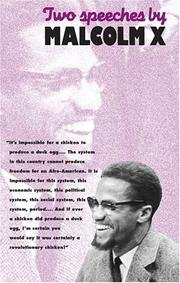 Cover of: Two speeches by Malcolm X