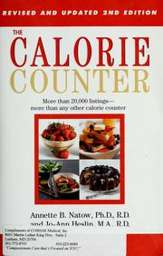Cover of: The calorie counter by Annette B. Natow