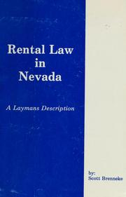 Cover of: Rental law in Nevada | Scott Brenneke
