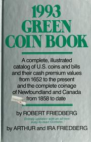 Cover of: 1993 green coin book | Robert Friedberg