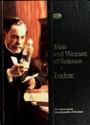Cover of: Men and women of science ; Index |
