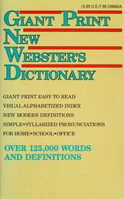 Cover of: Giant print new Webster's dictionary | Patterson, R. F.
