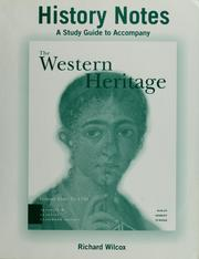 Cover of: A study guide to accompany the Western heritage | Richard Wilcox