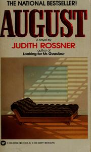 Cover of: August | Judith Rossner