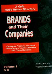 Cover of: Brands and their companies | Linda D. Hall