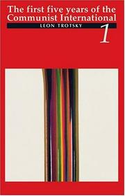 Cover of: The First Five Years of the Communist International