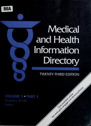 Cover of: Medical and health information directory | Anthony Thomas Kruzas