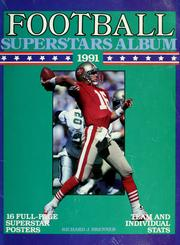 Cover of: Football superstars album, 1991 | Richard J. Brenner