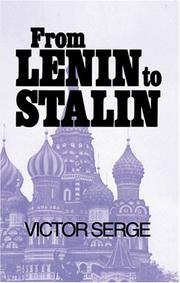 From Lenin to Stalin by Victor Serge