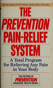 Cover of: The Prevention pain-relief system | Alice Feinstein