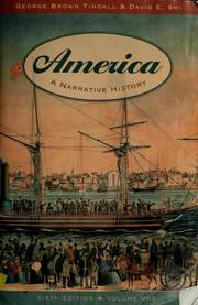 Cover of: America | George Brown Tindall