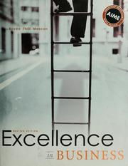 Cover of: Excellence in business | Courtland L. Bovée