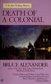 Cover of: Death of a Colonial (Sir John Fielding #6)