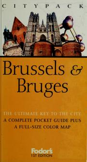 Cover of: Citypack Brussels & Bruges by Anthony Sattin