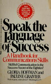 Cover of: Speak the language of success by Gloria Hoffman