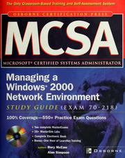 Cover of: MCSA managing a Windows 2000 network environment study guide | Rory McCaw