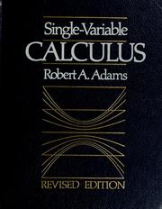 Cover of: Single Variable Calculus | Robert A. Adams