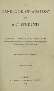 A handbook of anatomy for art students