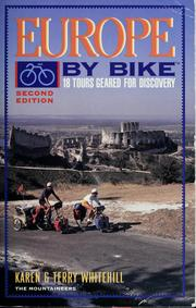 Cover of: Europe by bike | Karen Whitehill