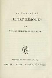 Cover of: The history of Henry Esmond | William Makepeace Thackeray