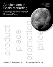 Cover of: Applications in Basic Marketing, 2001-2002 | E. Jerome McCarthy