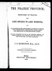 Cover of: The prairie province | Hamilton, James Cleland