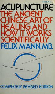 Cover of: Acupuncture | Felix Mann