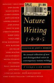 Cover of: American nature writing, 1995 | Murray, John A.