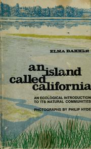 Cover of: An island called California by Elna Sundquist Bakker