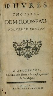 Cover of: Oeuvres choisies de M. Rousseau by Jean-Baptiste Rousseau